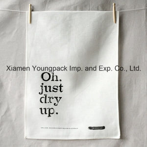 Promotional Custom Printed Plain White 100% Organic Cotton Tea Towel pictures & photos