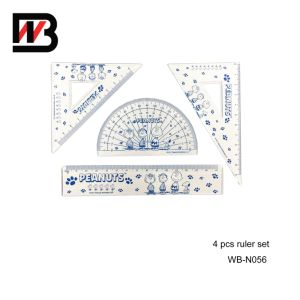 Office Stationery Ruler Set with Plastic Box