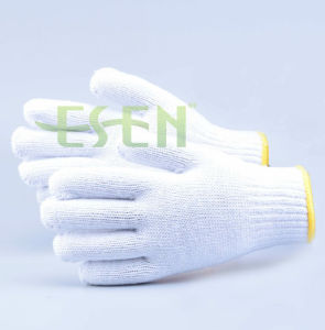 Cotton Gloves with High Quality Bleach White Cotton Gloves Safety Cotton White Work Gloves pictures & photos