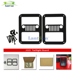 J115 Lantsun Steel Front Grill Style for Jeep Wrangler Jk Taillight Guard Cover pictures & photos