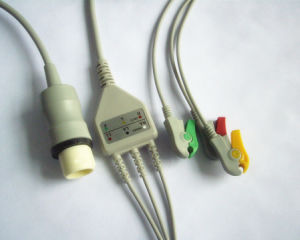 Philips IEC 8pin Clip 3 Leadwire ECG Cable pictures & photos