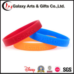 Promotional Cutom Printed Embossed Logo Rubber Sport Silicone Wristband pictures & photos