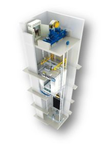 Vvvf Small Machine Room Passenger Lift with Standard Functions pictures & photos