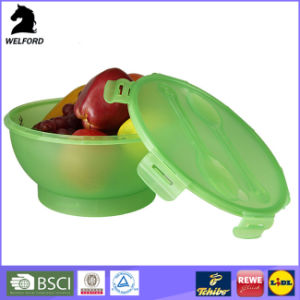 PP Salad Bowl Lunch Container with Fork and Spoon Plastic Lunch Box pictures & photos