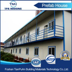 2 Floors Flat Roof Prefabricated Modern Modular House for Labor Camp pictures & photos