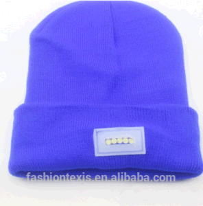 High Quanlity LED Knitted Caps Winter Night Walk Hands Free Beanie Woolen Yarn Hat with LED Light pictures & photos