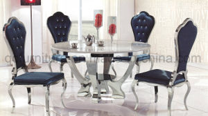 White Glass Round Dining Table Set pictures & photos