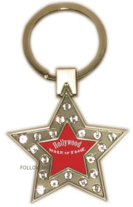 Key Chain with Five Star Shape for Hollywood Gift