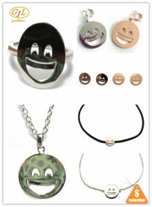 Personalized 925 Silver Smiley Lips Emoji Sign Language Silver Jewelry Sets (S3394) pictures & photos