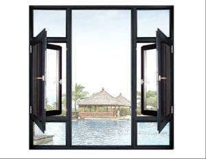 Foshan Woodwin Double Tempered Glass Thermal Break Aluminum Window pictures & photos
