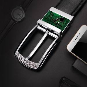 Smart Leather Belt Pin Buckle for Men Phone Anti Theft pictures & photos