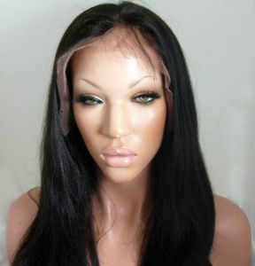 Yaki Straight Full Lace Wig/ Virgin Brazilian Lace Front Wig pictures & photos