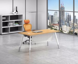 White Customized Metal Steel Office Staff Desk Leg with Ht77-1 pictures & photos