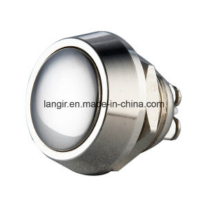 12mm Nickel Plated Brass Momentary Push Button Switch pictures & photos