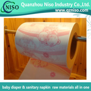 Soft Breathable Printing PE Film for Diaper Raw Materials with Ce (PF-011) pictures & photos