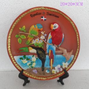 Custom Resin Bird Image Landscape Souvenir Plate for Deco pictures & photos