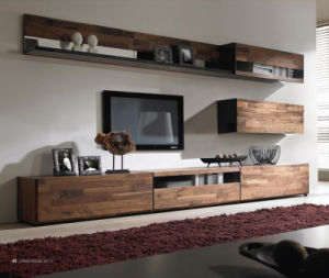 Imported Walnut TV Stand Set for Home or Hotel (WT-002)