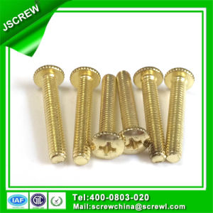 Cross Flat Head 8mm Customized Brass Screw pictures & photos