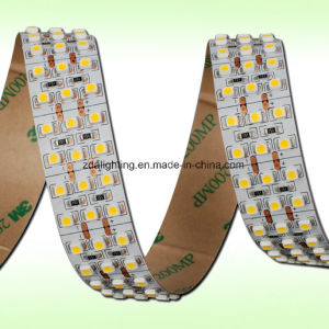 4 Lines 24volt SMD3528 4000k White Flexible LED Light Strip pictures & photos