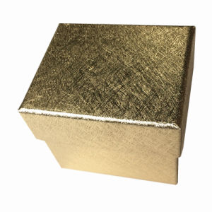 Golden Textured Paper Watch Display/ Gift Box pictures & photos
