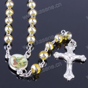 Beautiful 6mm Many Colors Glass Round Bead Rosary Necklace, Religious Rosary pictures & photos