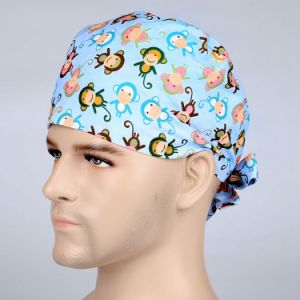 Men Doctor Nurse Colorful Lots Monkey Scrub Surgery Medical Surgical Hat pictures & photos