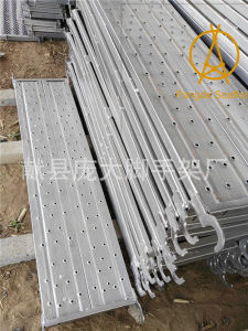 Galvanized Pressed Hole Type Scaffold Steel Board pictures & photos