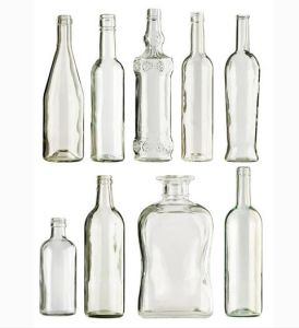 300-500ml Long Neck Glass Wine Bottle with Cork pictures & photos