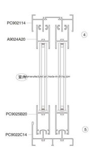 PC902 Series Sash Aluminium Alloy Extrusion Profile for Door and Window pictures & photos