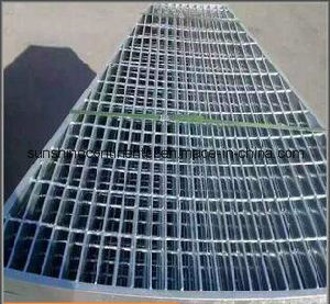 Galvanized Serrated or Plain Platform Steel Grating pictures & photos