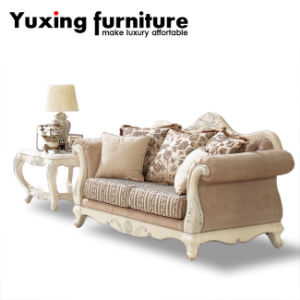 Classical Wooden Couch Antique Home Sofa for Living Room Furniture Set