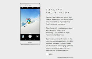 "International Firmware Huawei P9 5.2"" Fingerprint Mobile Phone 12MP*2 Hisilicon Kirin 955 Octa Core 3GB RAM 32GB ROM Smart Phone Gold pictures & photos"