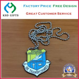 Custom Souvenir Quality School Pendant/Dog Tag with Ball Chain (KSD-1172) pictures & photos