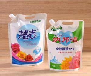 Stand up Plastic Packaging Bag Spout Plastic Bag for Detergent Packaging pictures & photos