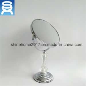 Bathroom Metal Standing Vanity Mirror with Magnifier pictures & photos