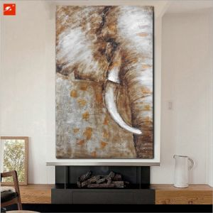 Elephant Half Wildlife Oil Painting on Canvas pictures & photos
