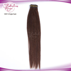 100 % Unprocessed Virgin 2# Straight Hair Remy Human Hair Extension pictures & photos