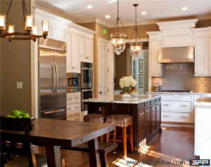 High End Green Material Solid Wood Kitchen Cabinets pictures & photos