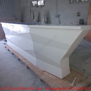 Artificial Stone Boat Shaped Night Club Furniture LED Lighting Bar Counter Deisgn for Sale Boat Bar Furniture pictures & photos