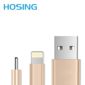 Colorful Pink Grey Gold Silver Nyon Charger&Transfer Data USB Cable pictures & photos