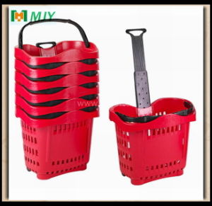 Roll Plastic Shopping Basket Mjy-Tr04 pictures & photos