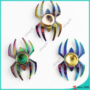 Wholesale Colorful Metal Spider Shape Fidget Spinner EDC Desk Fidget Spinner Toy