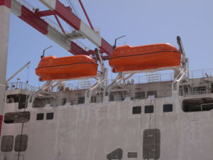 Marine Used Lifeboat Open Type Fiber Glass Boats for Sale pictures & photos