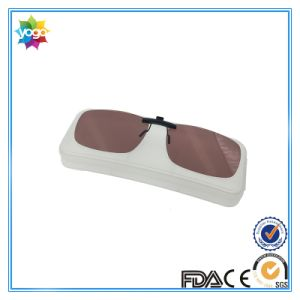 Brown Clip up Sunglasses Mirrored Clip on Sunglasses Flip up Sunglasses pictures & photos