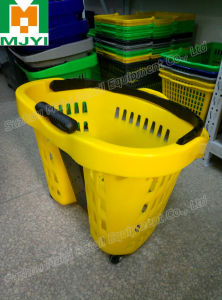 Supermarket Convenient Retail 2 Handle Shopping Basket pictures & photos
