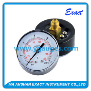 Small Size Black Steel Case Pressure Gauge - Pressure Control pictures & photos