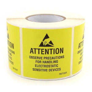 Yellow Caution Tapes Antistatic Warning Tape pictures & photos