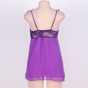 2017 Latest Design Sleevless Purple Color Sexy Hot Lingerie pictures & photos