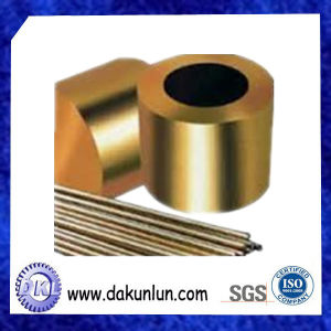 Manufacturing Custom CNC Turning Flanged Oil Grooved Brass Bushing pictures & photos