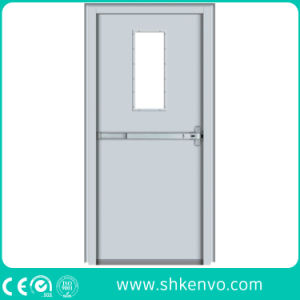 UL and FM Certified Emergency Exit Fire Rated Metal Door with Glass Window pictures & photos